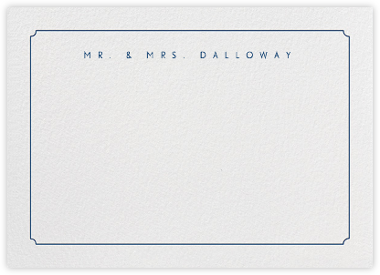 Indented Rounded Corners Horizontal - Dark Blue - Paperless Post - Personalized Stationery