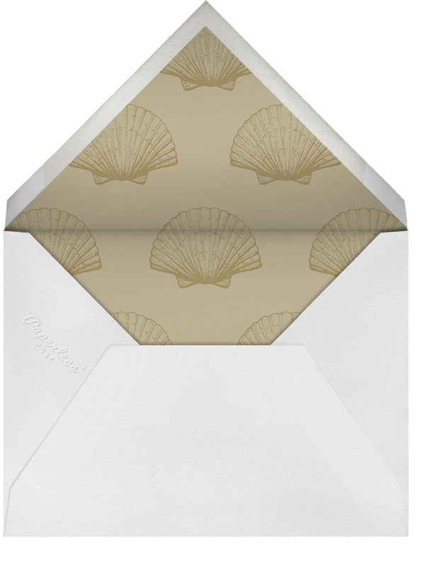 Indented Rounded Corners Horizontal - Gold - Paperless Post - Personalized stationery - envelope back