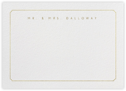 Indented Rounded Corners Horizontal - Gold - Paperless Post - Personalized Stationery