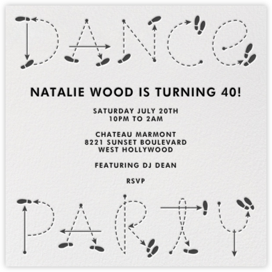 Dance Party - Paperless Post - Adult Birthday Invitations