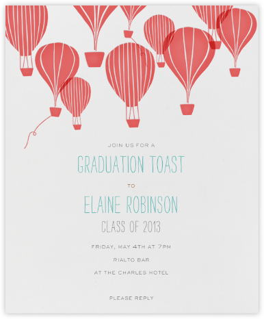 Hot Air Balloon Cluster - Coral - Paperless Post -