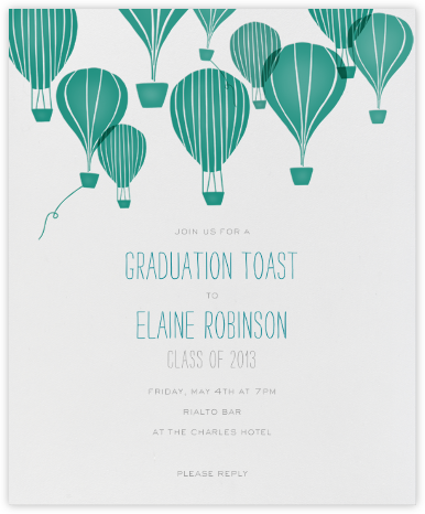 Hot Air Balloon Cluster - White/Amazon - Paperless Post -