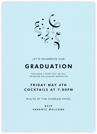 Glacier (Tall) - Paperless Post - Celebration invitations