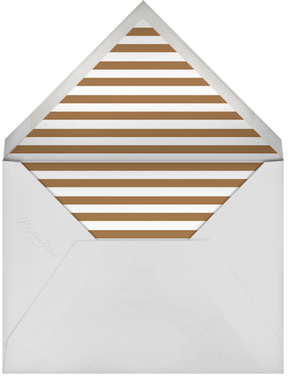 Bold Line - Blue - The Indigo Bunting - Graduation party - envelope back