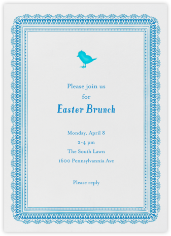Chick Chick Chickie - Royal - Mr. Boddington's Studio - Easter Invitations