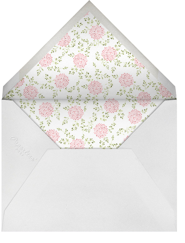 Dahlias (Thank You) - Blossom - Paperless Post - Personalized stationery - envelope back