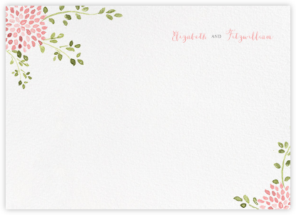 Dahlias (Thank You) - Blossom - Paperless Post - Personalized Stationery