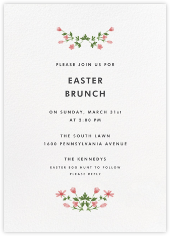 Floral Border (Tall) - Paperless Post - Easter invitations