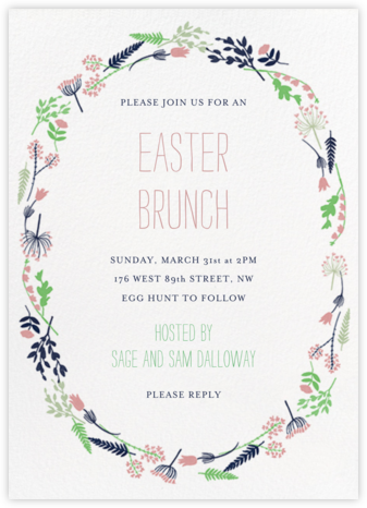 Willowmarsh - Tea Rose - Paperless Post - Easter invitations