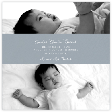 Title Card - Pacific - Paperless Post - Birth Announcements