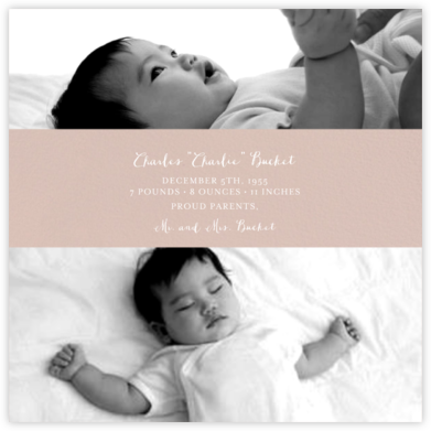 Title Card - Rose - Paperless Post - Birth Announcements