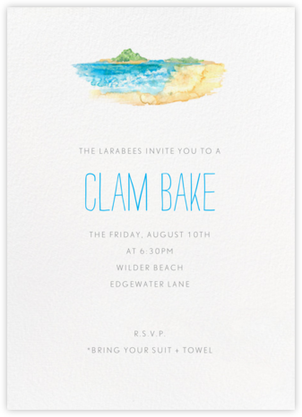 Beach Scene - Paperless Post - Summer entertaining invitations