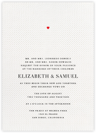 Heart Dot - Paper + Cup - Wedding invitations