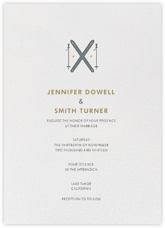 Ski Love - Paper + Cup - Destination wedding invitations