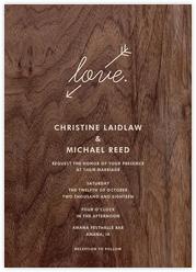Wood Love Arrow