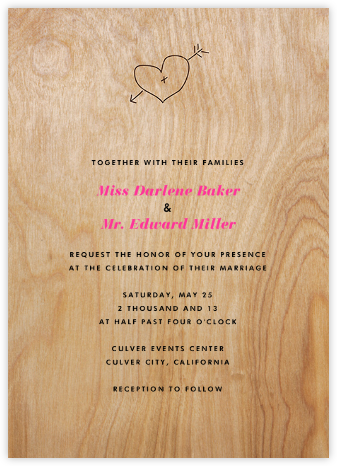 Wooden Arrow - Paper + Cup - Wedding invitations
