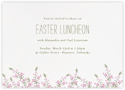 Heathers (Horizontal) - Lilac - Paperless Post - Easter Invitations