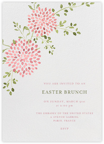 Dahlias (Tall) - Pink - Paperless Post - Easter invitations