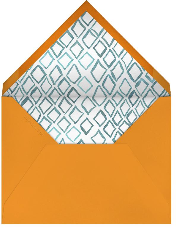 Big Zig Zag - Aqua - Linda and Harriett - Easter - envelope back