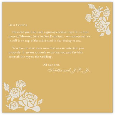 Roses- Apricot with Cream (Square) - Paperless Post -