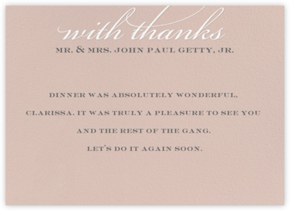 Simple Script (Stationery) - Antique Pink - Paperless Post -