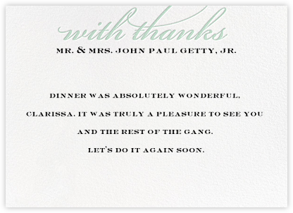 Simple Script (Stationery) - Mint - Paperless Post - General
