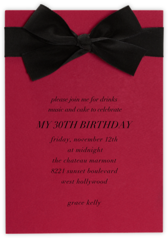 Madame X - Paperless Post - Adult Birthday Invitations