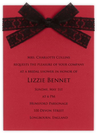 Bois de Boulogne - Paperless Post - Bridal shower invitations