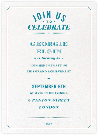 Seal the Date (Invitation) - Opal - Paperless Post - Adult Birthday Invitations