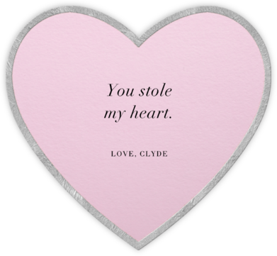 Classic Heart - Pink - Paperless Post - Valentine's Day Cards