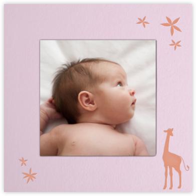 Giraffe (Blush) - Paperless Post -