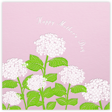 Hydrangea (Blush) - Paperless Post - Mother's Day Cards