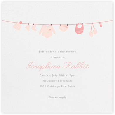 Onesie - Pink - Paperless Post - Celebration invitations