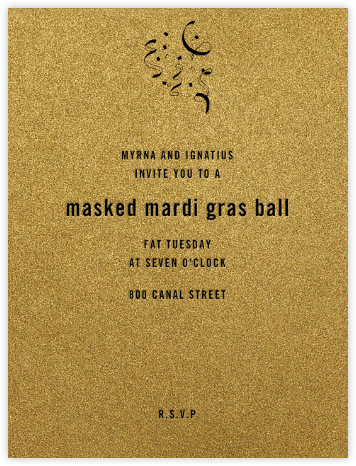 Fort Knox  - Paperless Post - Mardi Gras invitations