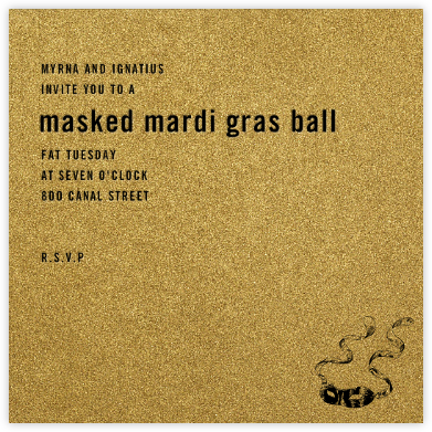 Fort Knox - Paperless Post - Mardi Gras invitations