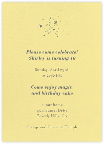Lemon Drop - Paperless Post - Kids' birthday invitations