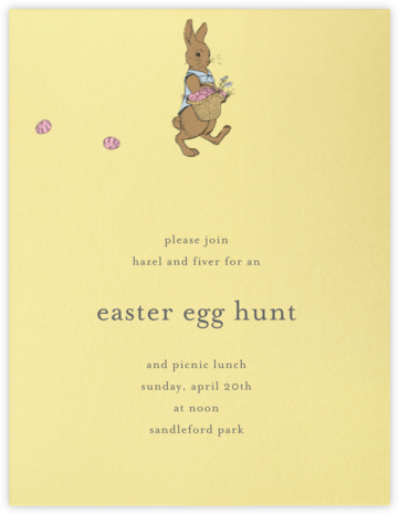 Easter Bunny (Buttercup) - Paperless Post - Parties