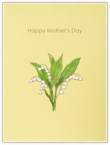 Lily of the Valley (Pale Yellow) - Paperless Post -