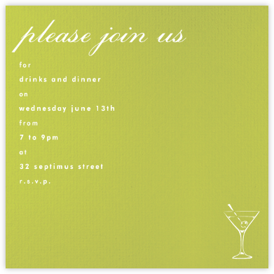Pear (Square) - Paperless Post - Invitations