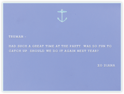 Anchor - Paperless Post - Personalized Stationery