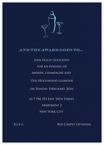 Navy (Tall) - Paperless Post - Viewing Party Invitations