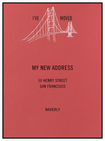 Golden Gate Bridge (Coral) - Singular - Paperless Post -