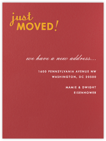 Just Moved - Paperless Post - Moving announcements