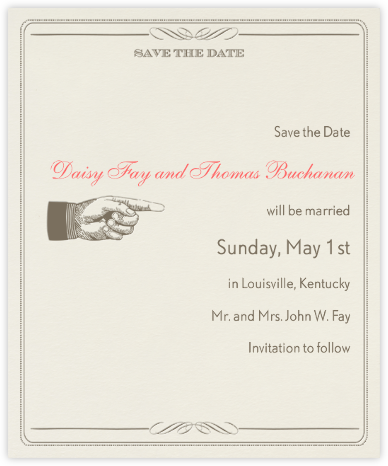Antique Press (Save The Date) - Clay/Cream - Paperless Post -
