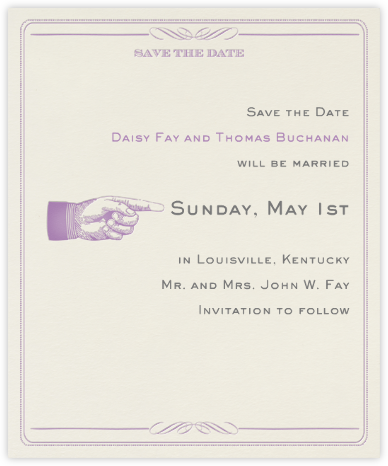 Antique Press (Save The Date) - Lilac/Cream - Paperless Post -