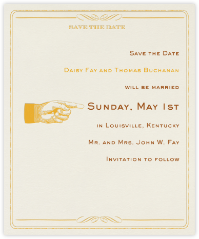 Antique Press (Save The Date) - Tangelo/Cream - Paperless Post -