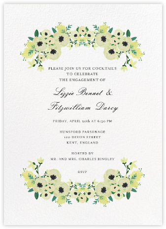 A Floral Wedding - Paper + Cup - Paper + Cup Invitations