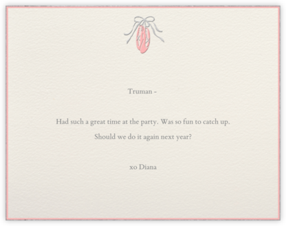 Ballet Slippers - Paperless Post - Personalized Stationery
