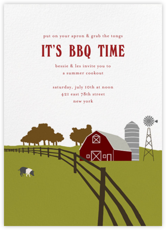 Barn - Paperless Post - Summer entertaining invitations