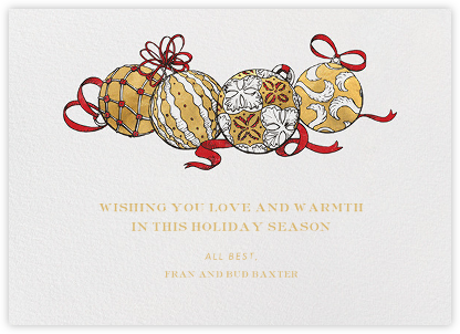 Baubles (Happy Holidays) - Paperless Post - Holiday Cards